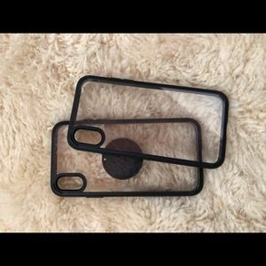 Two iPhone protective covers